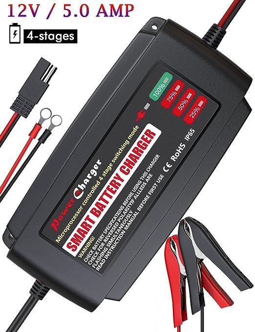 1 opinioni per Bmk, caricabatterie da 12V, 5A completamente automatico, mantenitore di carica