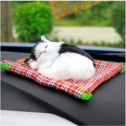 New Lovely Simulation Animal Doll Plush Sleeping Cats with Sound Kids Toy  BT