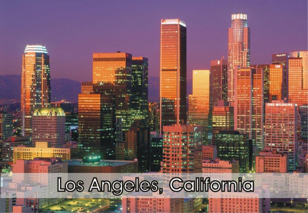 Los Angeles, California, CA, City, Skyline, Travel, Souvenir, Refrigerator, Locker Magnet 2 x 3 Fridge Magnet