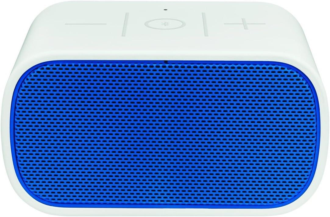 UE BoomBox -Altavoz portátil de 3 W (Bluetooth, NFC, USB, 3.5 mm), color blanco y azul