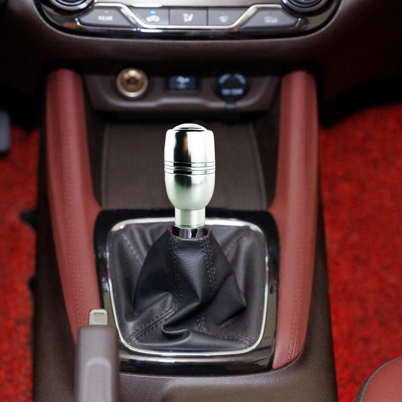 Silver Arenbel Automatic Gear Shifter Knob Button Universal Car ...