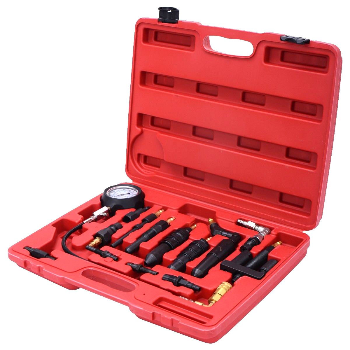 GHP Swivel End Quick Coupler Diesel Engine Compression Tester Set Kit with Case