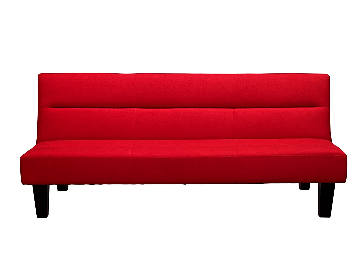 28 red futon couch convertible futon sofa in red for Sofa bed vs futon
