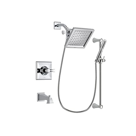 Charmant Delta Arzo Chrome Finish Thermostatic Tub And Shower Faucet System Package  With 6.5 Inch Square