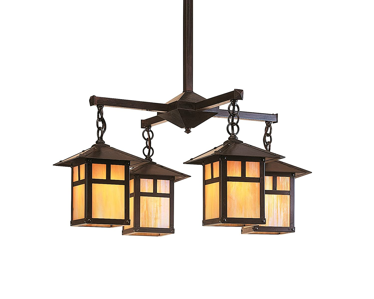 Amazon.com: Arroyo Craftsman ech-7/4sfof-ac Evergreen 4 luz ...