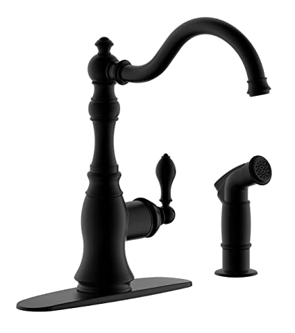 Derengge Kf 6832 Mt 8 Single Handle Kitchen Faucet With Side Spray
