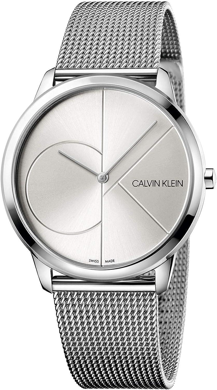 Calvin Klein Reloj Analogico para Hombre de Cuarzo con Correa en Acero Inoxidable K3M2112Z