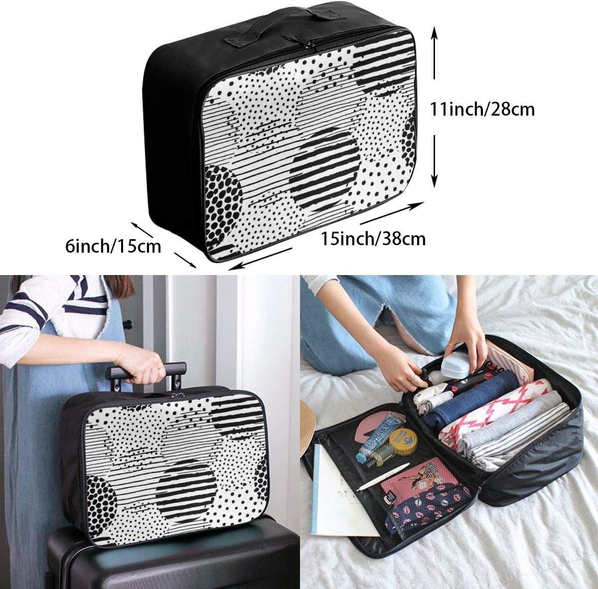 Yunshm Irregular Stripe Dot Brush Pattern Personalized Trolley Handbag Waterproof Unisex Large Capacity For Business Travel Storage