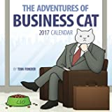 Business Cat 2017 Square Wall Calendar