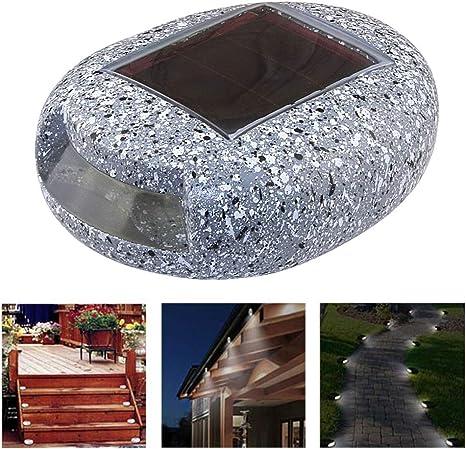 Blusea Luces Solares para jardín Al Aire Libre Piedra en Forma Impermeable Roca Lght Blanco LED Iluminación del Paisaje Vía Escalera Césped Lámpara para césped, Patio, Entrada de Auto: Amazon.es: Hogar