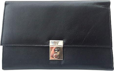 Lockable Leather Travel Wallet Organiser Document Holder. Red