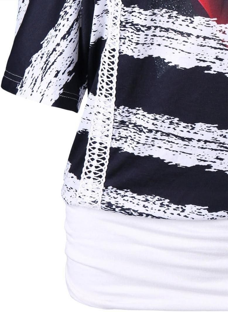 Camisetas Mujer Verano Blusa Mujer Elegante Camisetas Mujer Manga Corta Algod/ón Camiseta Mujer Camisetas Mujer Fiesta Camisetas Sin Hombros Mujer Blusas Camisetas Mujer Tallas Grandes