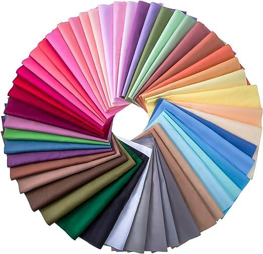 50 Piezas Tela de Multicolor Patchwork de Algodón Telas Cuadradas ...
