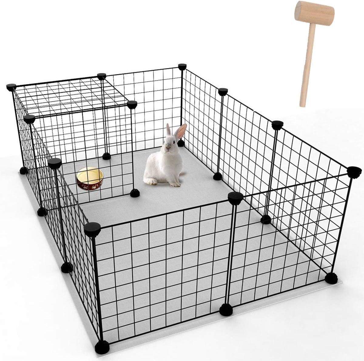 Youke Parque para Perros, Productos para Mascotas Cerca de jardín de Alambre metálico, Negro (12 Paneles): Amazon.es: Productos para mascotas