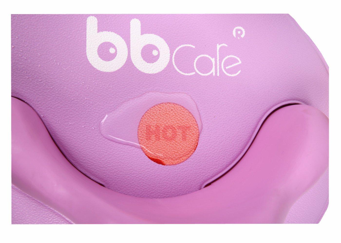BBCare Baby Sicherheitsbadesitz mit weicher Minimatte und farb/ändernder Hot Spot Blau