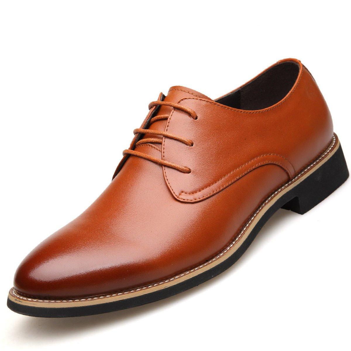 Männer Herbst Business Und Winter Mode Casual Business Herbst Schuhe High-End Hochzeit Schuhe Büro Arbeit Komfort Dads Schuhe Braun2 5617fa