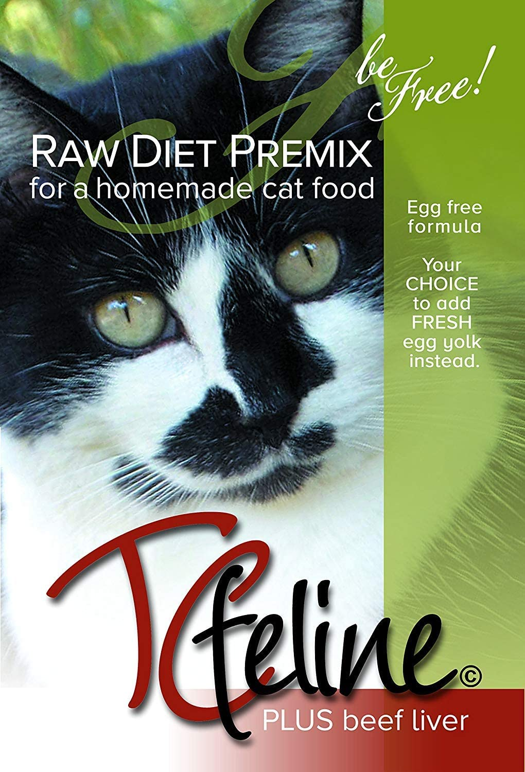 TCfeline RAW Cat Food Supplement/Premix for a Homemade, All Natural, Grain Free, Holistic Diet – with Beef Liver