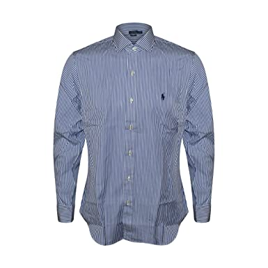 94e8a64841 Image Unavailable. Image not available for. Color  RALPH LAUREN Mens  Stretch Oxford Button Down Slim Fit Shirt (Large