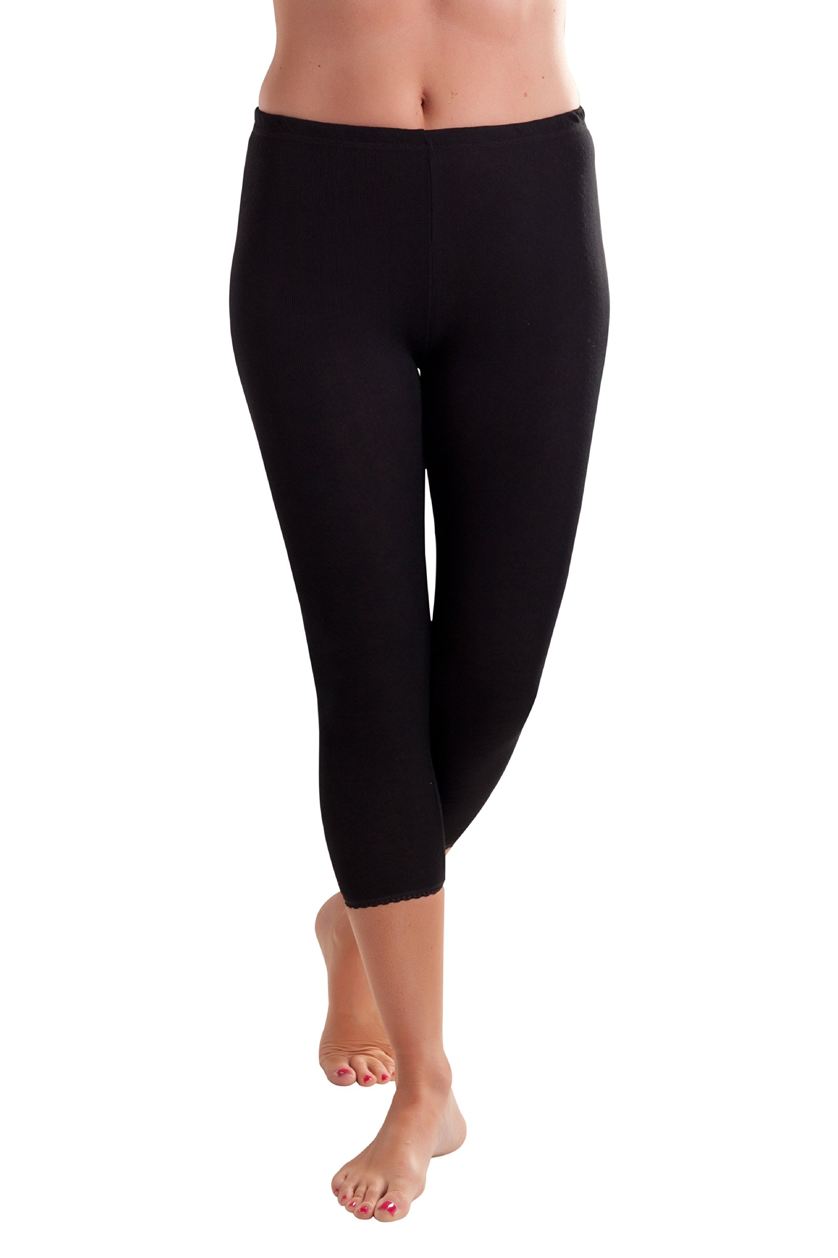 Octave Womens Thermal 3/4 Length Long Jane (Extra Warm) - Size OS, Black