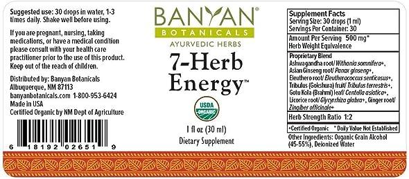 Banyan Botanicals 7 Herb Energy
