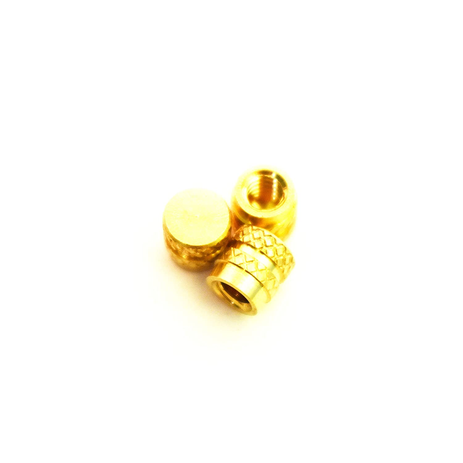 5.7mm OD J/&J Products Heat Sink or Injection Molding Type Blind Insert 5.5 mm Length Female 6-32 Thread 100 pcs J /& J Products 6-32 Brass Insert 100pcs