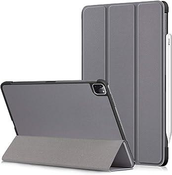 iPad Pro 11 2020 Funda,Heavy Duty Estuche Case Cuero PU Billetera Cover Carcasa Cierre Magnético Caso Tapa con Auto Wake Up/Sleep Cubrir Shell para iPad Pro 11 Pulgadas 2020 Tablet PC (Gris):