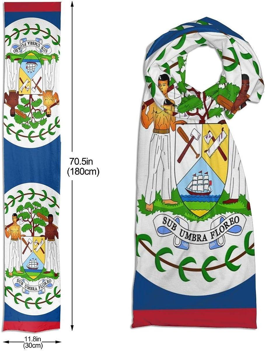 Belize Flag Unisex Cotton Like Soft Shawl Wrap Scarf Neck Wear