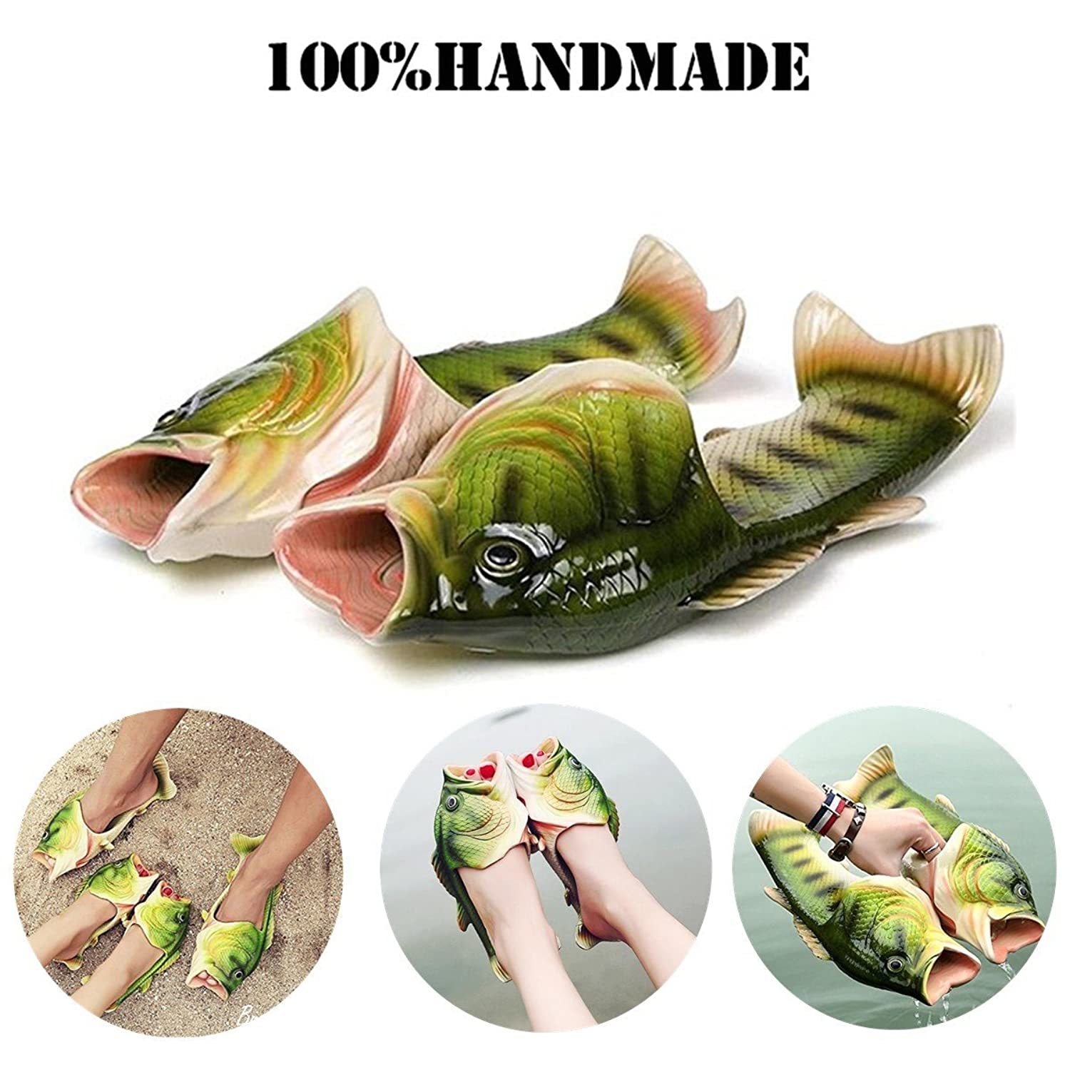 Fish Animal Slippers Summer Beach Sandals Shower Slippers Non-slip Beach Shoes Wear for Women Men Casual Shoe