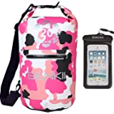 Dry Bag Backpack- Waterproof Sack- Perfect For Hiking, Kayak, Fishing, Boating, Rafting, Camping & More- Spacious & Comfy Travel Bag With Waterproof Phone Case - Protects Your Valuables