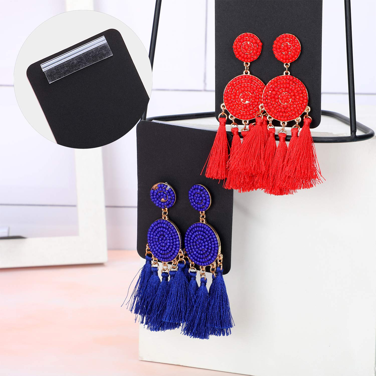 80 Pieces Earring Card Adapter Adhesive Lip Hanger Self-Adhesive Lip Adapter for Jewelry DisplayCard Adapter Adhesive Lip Hanger Self-Adhesive Lip Adapter for Jewelry Display