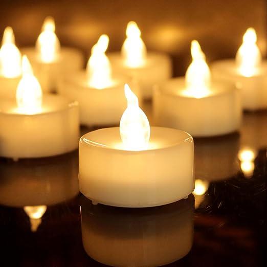 dellukee eléctrico sin llama velas 96 piezas parte superior ...