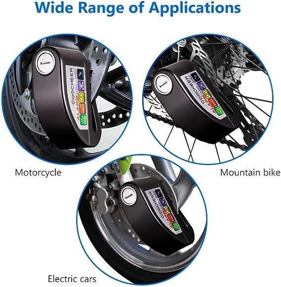 Pujuas Motorcycle Lock Brake Disc Motorcycle Anti Theft Alarm With Sonor Alarm Block Blocker Auto