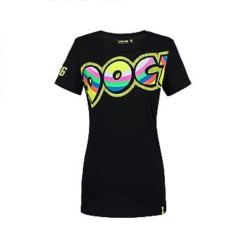 Valentino Rossi Vr46 Moto Gp Doc Damen Schwarz T Shirt Offiziell
