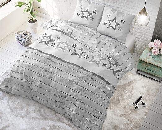 SleepTime Funda Nórdica Algodón Estrellas, 240cm x 220cm, 2 ...
