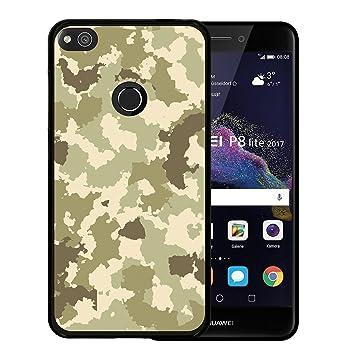 WoowCase Funda para Huawei P8 Lite 2017 - Huawei Nova Lite, [Huawei P8 Lite 2017 - Huawei Nova Lite ] Silicona Gel Flexible Camuflaje Militar Verde, ...