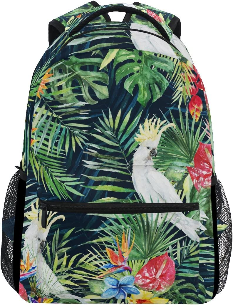 Unisex Everyday Bag Green Palm Tree Drawstring Bag For Gym Palm Leaves Carryall Backpack Hippie Beach Backpack Large Funky Yoga Bag