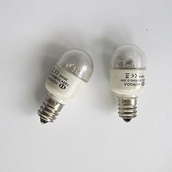 kunpeng - # led-e12 110 V 2pcs luz LED Bombillas para el hogar máquina de coser 0,5 W 110 V tornillo tipo: Amazon.es: Juguetes y juegos