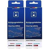 Bosch TCZ6001 - Pastillas de limpieza para cafeteras (2 unidades, 10 pastillas cada una)