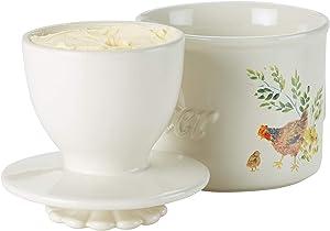 Paula Deen Dinnerware Ceramic Butter Holder, Garden Rooster