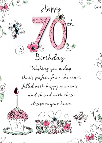 Amazon Just To Say Female 70Th Birthday Greeting Card Second