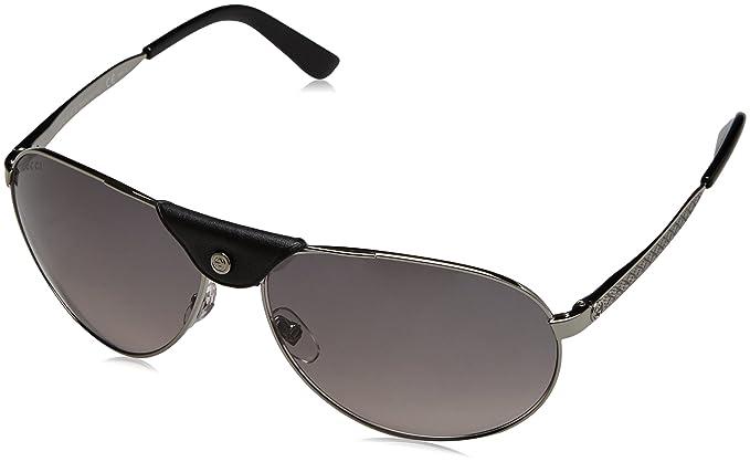 Gucci GG 2226/S, Gafas de Sol para Hombre, Ruthenium, 63