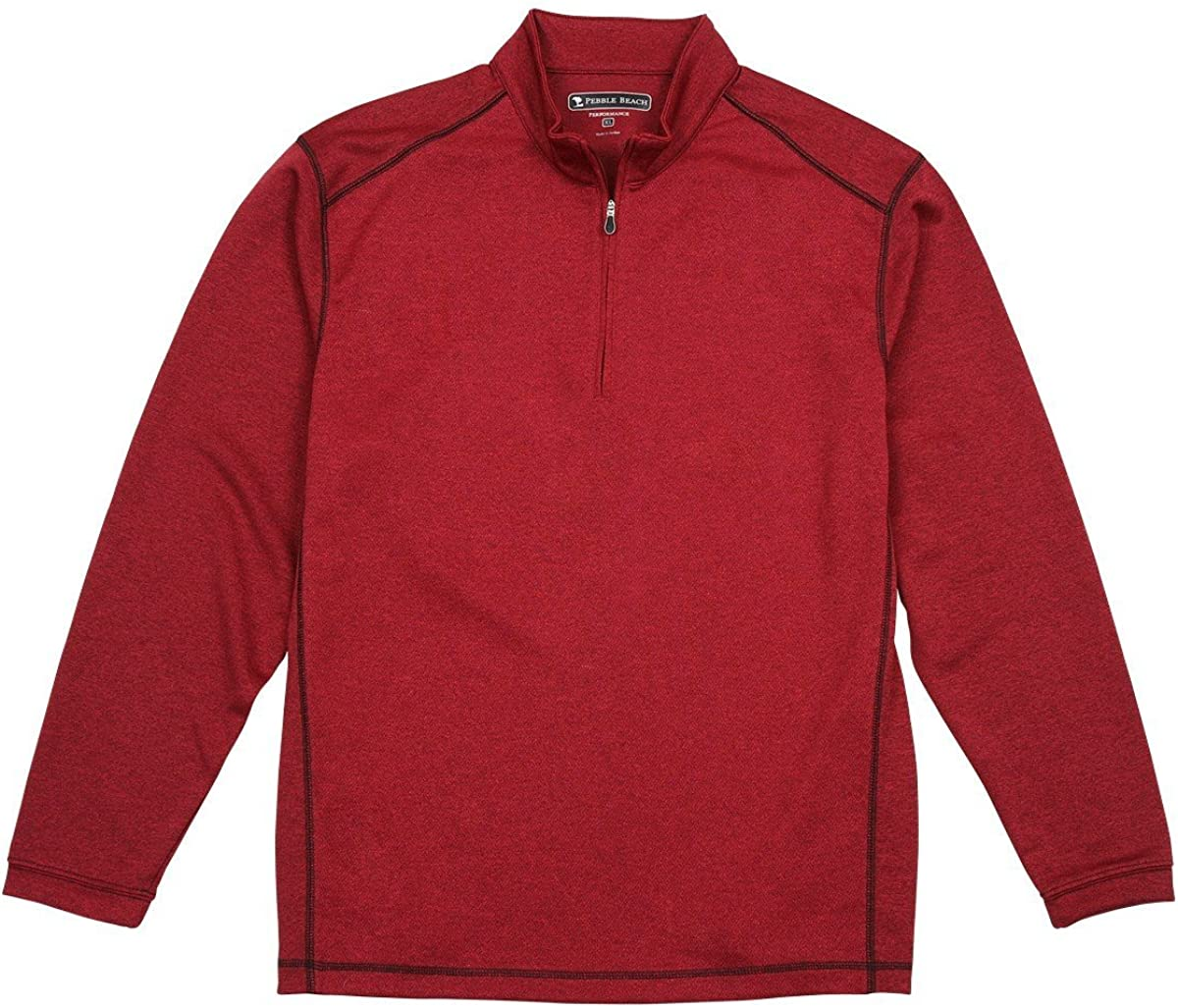 Pebble Beach Mens Performance 1//4 Zip Pullover XXLarge, Red