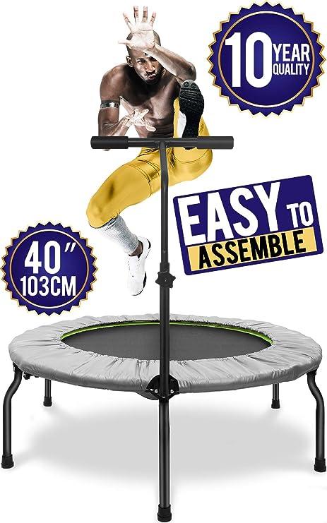 Trampoline minitrampolin Fitness Indoor Outdoor Sport 97 cm à 100 kg