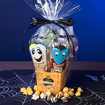 Amazon popcornopolis halloween monster mini gift baskets popcornopolis halloween monster mini gift baskets gluten free 5 single serving cones zebra negle Gallery