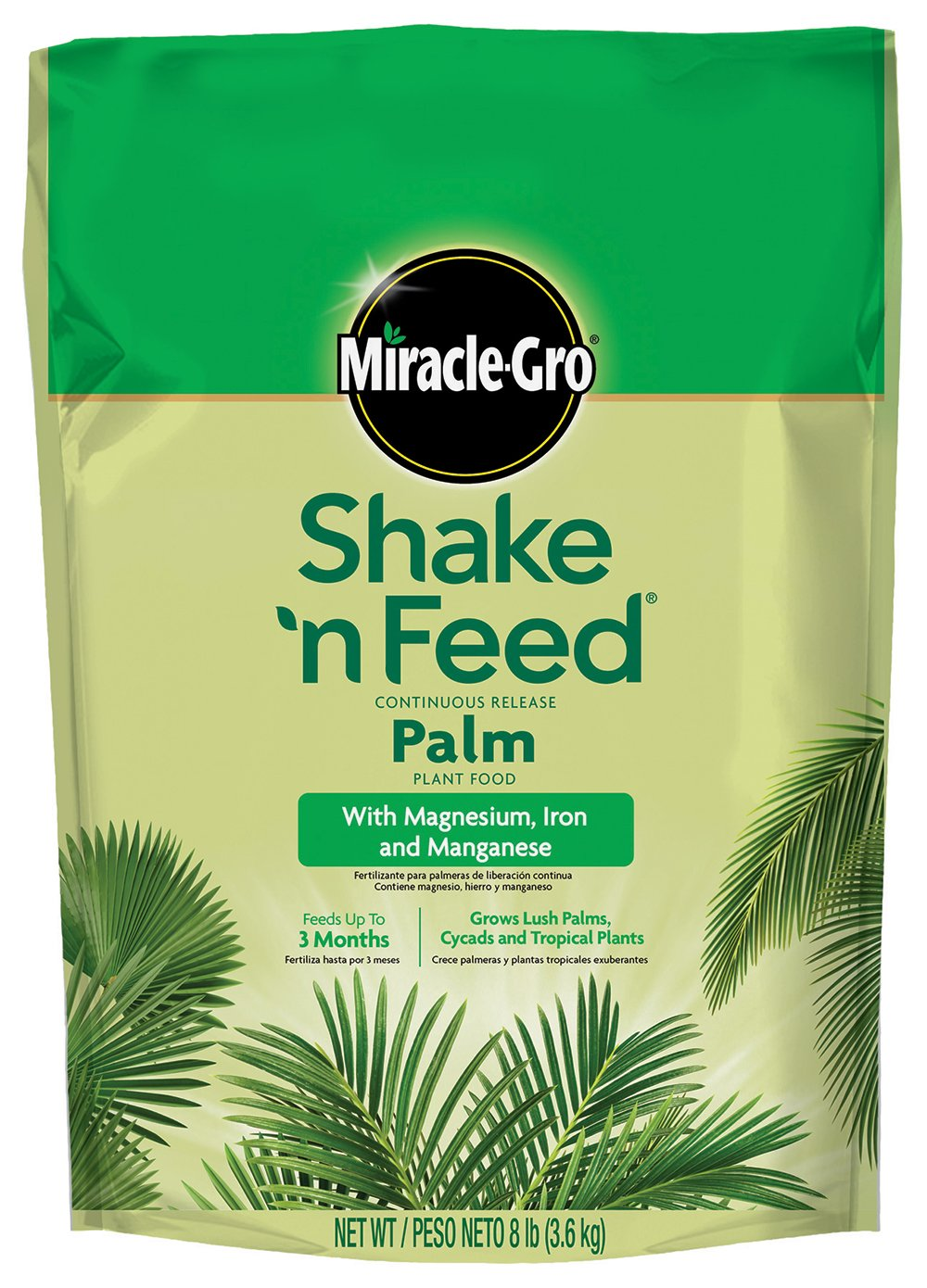 Amazon.com : Miracle-Gro 1007021 Shake n Feed Continuous Release Palm Plant Food (4 Pack), 8 lb : Garden & Outdoor