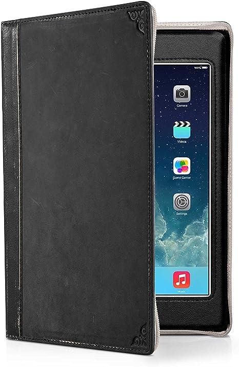 Twelve South BookBook - Funda Protectora de Piel con Forma de Libro Vintage para iPad Mini y Nuevo iPad Mini, Negro: Amazon.es: Informática