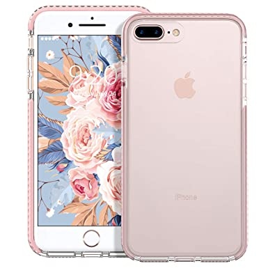 uk availability aa6f1 d55c3 MATEPROX iPhone 8 plus case,iPhone 7 plus Case,Clear Series Protective,High  transparent PC Back Cover, Soft Rubber Bumper,Anti-Scratch Shockproof case  ...