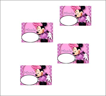 photo relating to Minnie Mouse Printable named Invest in Celebration Sticker - Decor Kafe Minnie Mouse Printable