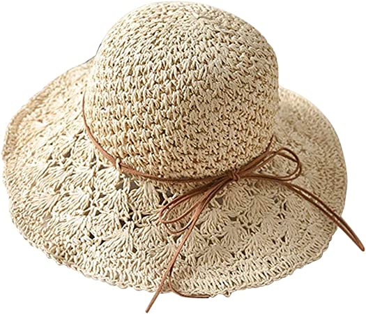 Ladies Summer Crushable Sun Hat with Banded Wide Brim