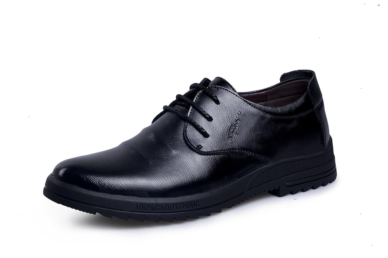 DYF Los hombres de negocios zapatos traje de oficina permeabilidad cálido entramado Correa redonda 41 EU|Black Black